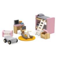 Viga Wooden Dollhouse Furniture Kids' Bedroom Photo