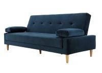 George Mason George & Mason - Velvet 3-Seater Sleeper Couch Photo