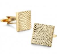 OTC Textured Wave Square Gold Formal Cufflinks Photo