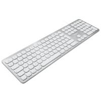 Macally - Slim USB Wired Keyboard 2 USB Ports Photo