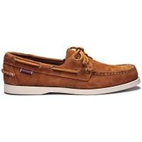 Sebago Mens Footwear Docksides Portland Suede Brown Cognac Photo