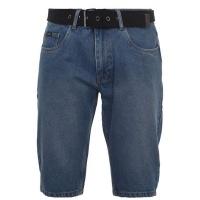 Pierre Cardin Mens Belt Denim Shorts - Mid Blue [Parallel Import] Photo