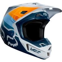 Fox Racing Fox V2 Murc Light Grey Helmet Photo