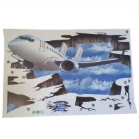 4aKid 3D Wall or Floor Stickers – Plane Photo