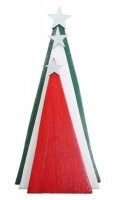 Christmas Trees - Set of 3 - Fun Decorations - Green White & Red Photo
