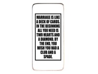 Baytiques - Marriage is like - Wooden Sign 33cm x 18.5cm Photo