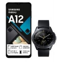 Samsung Galaxy A12 Black Galaxy LTE 42mm Watch Cellphone Photo