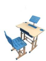 Children Study Desk & Ergonomic Chair- Blue Photo