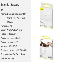Baseus Intelligent T1 Flat Card Type Anti-Loss Tracking Device - White Photo