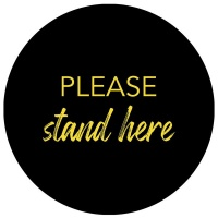 Please Stand Here - Anti Slip - Round - Floor Vinyl - Cygni - Set Of 8 Photo
