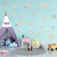 AOOYOU Rainbow Wall Vinyl Art Decoration for Kids Room Photo