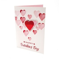 BUFFTEE Happy Valentines Day Card- Happy 3D Heart - Musical Photo