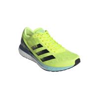 adidas Men's Adizero Boston 9 Running Shoes - Yellow/Black/Aqua Photo