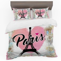 Print with Passion From Paris with Love Duvet Cover Set Photo