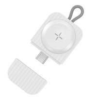 Apple Portable Magnetic Wireless Charger Pad for Watch Series - White Photo