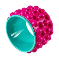 3D Massage Dot Yoga Wheel Back Foam Roller for Back Pain Stretches-Red Photo