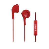 Maxell IN-MIC In-Ear Buds with Microphone - Red Photo