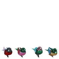 AK Multi Sequin Bird Christmas Decorations Small - Pack of 4 Photo