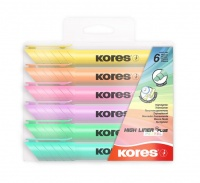 Kores Highliner PLUS Pastel Pack of 6 Photo