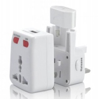 Travel Mate Universal Travel Adaptor with USB and Fuses T-034 Photo