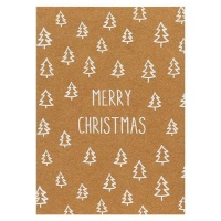 AK Kraft White Trees Christmas Cards - Pack of 8 Photo