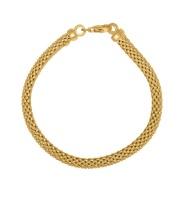 Art Jewellers - 925 Sterling Silver Fancy Bracelet - Yellow Gold Plated Photo