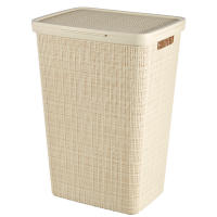 Curver by Keter - Jute Laundry Hamper Oasis White Photo