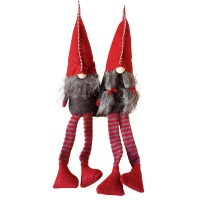 The Nordic Collection Nordic Tomte Felt Man & Women Gnome Christmas Decor - 2 Pack 32/50cm Photo