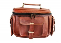 Minx Genuine Buffalo Leather Camera Bag with Divider and Strap Digital Camera Photo