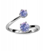 Crystalize 925 Silver June Birthstone Ring with Swarovski Crystals Photo