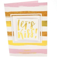 BUFFTEE Valentines Day Musical Card- Lets Kiss Photo