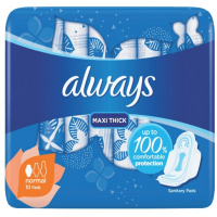 Always Sanitary Pads Maxi Thick Normal VALUE PACKET Photo