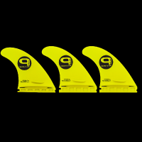Quobba surf fins - QPLUS - Large Thruster Set - Single Tab Photo