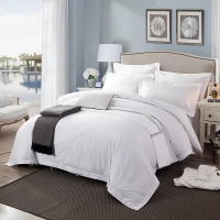King Size 400 Thread Count Duvet Cover Set 3 Piece Luxury Soft Photo