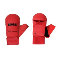 SMAI Red WKF Approved Karate Mitts with Thumb Protection Photo