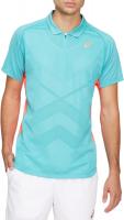 ASICS Men's Short Sleeve Tennis Polo Shirt - Light Blue Photo