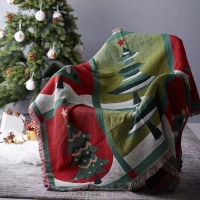 Linen Boutique Christmas Sofa Decorative Throw Knitted Blanket Photo