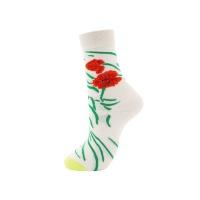 SoGood-Candy - Socks - Flowers & Praying Mantis Photo