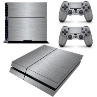 SKIN-NIT Decal Skin For PS4: Brushed Steel Photo