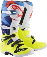 Alpinestars - Tech 7 Enduro/MX Boot - Yellow/White/Blue Cyan Photo