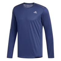 adidas - Men's Own-The-Run Long Sleeve Tee - Blue Photo