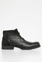 Men's Jack & Jones Harry Mixed Leather Boot - Black Photo