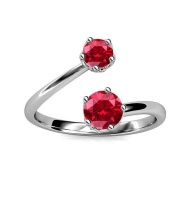 Crystalize 925 Silver July Birthstone Ring with Swarovski Crystals Photo