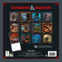 Dungeons & Dragons Official 2021 Square Wall Calendar Photo