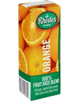 Rhodes 100% Fruit Juice Orange 24 x 200 ML Photo