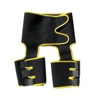 3 in1 Neoprene Sweat Thigh and Waist Trimmer - Yellow Photo