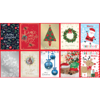 10 Pack Christmas Cards - English Photo