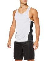Puma Men's Forever Faster Singlet Other Teamsports Singlet - White Photo