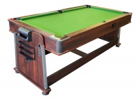 "4"" 1 Pool Airhockey Table Tennis and Dining room table Photo"