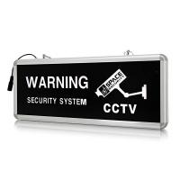 Space TV CCTV Warning Sign Board Illuminated Photo